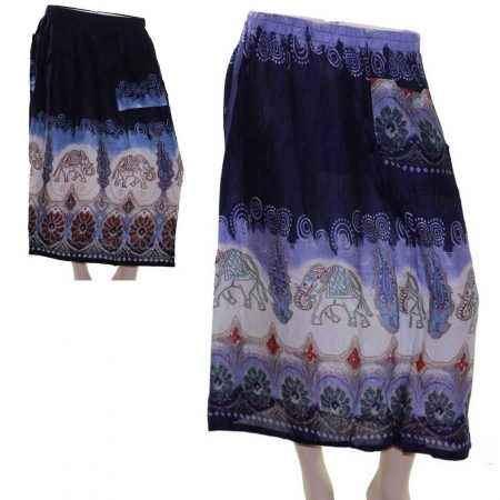 Skirt-Casual-Plus-Size-16-18-22-Multi-Coloured-Bright-Summer-Paisley-Purple-Blue-221666744119