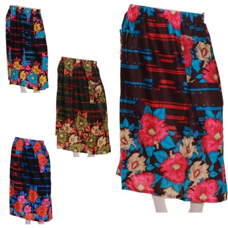 Skirt-Casual-Plus-Size-16-22-24-28-Multi-Coloured-Bright-Summer-Floral-Blue-Pink-321646528610