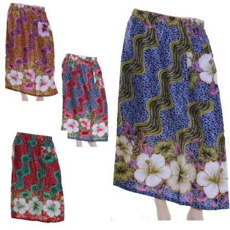 Skirt-Casual-Plus-Size-16-22-24-28-Multi-Coloured-Bright-Summer-Leopard-Blue-321646520852