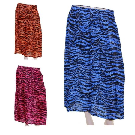 Skirt-Casual-Plus-Size-16-24-28-Multi-Coloured-Bright-Summer-Pink-Blue-Tiger-321645856184