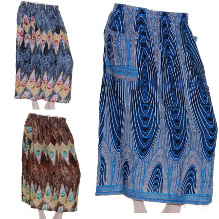 Skirt-Casual-Plus-Size-16-24-Multi-Coloured-Bright-Summer-Blue-Brown-Beach-Sun-221666719567