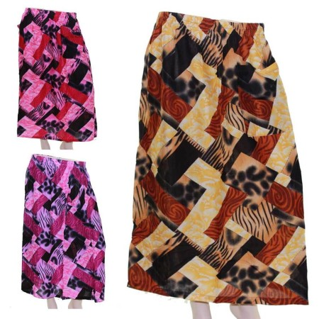 Skirt-Casual-Plus-Size-22-24-28-Multi-Coloured-Bright-Summer-Floral-Purple-Pink-221667454306