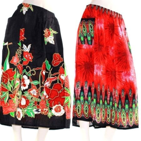 Skirt-Casual-Plus-Size-22-Multi-Coloured-Bright-Summer-Rayon-Cool-Beach-Sun-222352423970