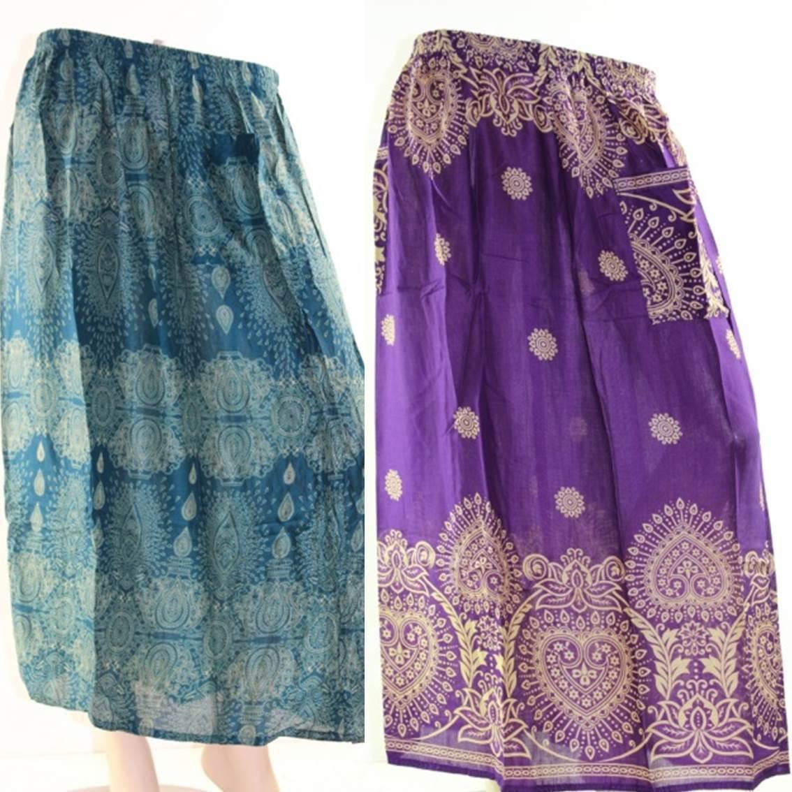Skirt Casual Plus Size 22 Multi Coloured Bright Summer Rayon Cool Beach Sun