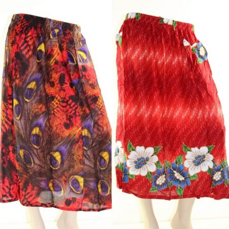 Skirt Casual Plus Size 26 Multi Coloured Bright Summer Rayon Cool Beach Sun