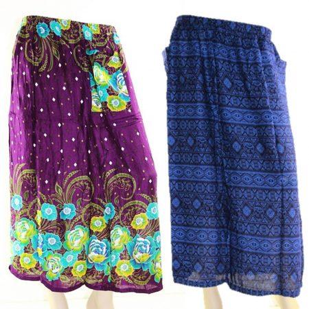 Skirt Casual Plus Size 28 Multi Coloured Bright Summer Rayon Cool Beach Sun