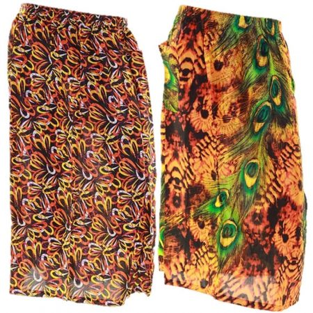Skirt Casual Plus Size 28 Multi Coloured Bright Summer Rayon Cool Beach Sun