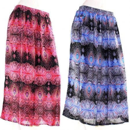 Skirt Plus Size 20 Multi Coloured Casual Bright Summer Rayon Cool Beach Sun