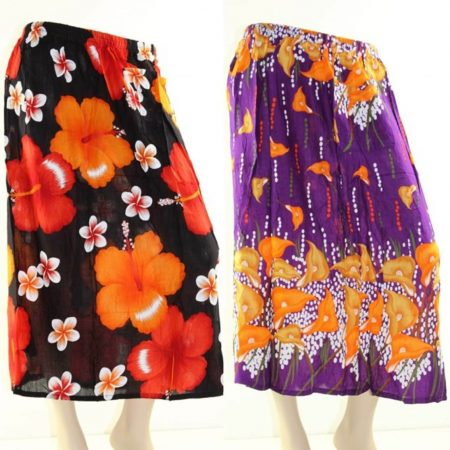 Skirt Plus Size 26 Midi Casual Multi Coloured Bright Summer Rayon Cool Beach Sun