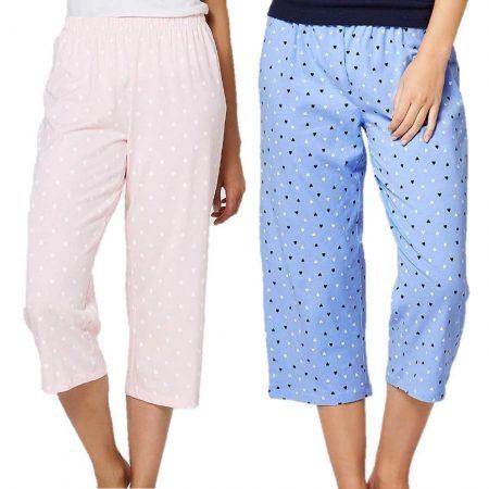 Sleep Pant TARGET Plus Size 8 10 12 14 16 18 20 22 Pink Blue 3/4 Pyjama PJ