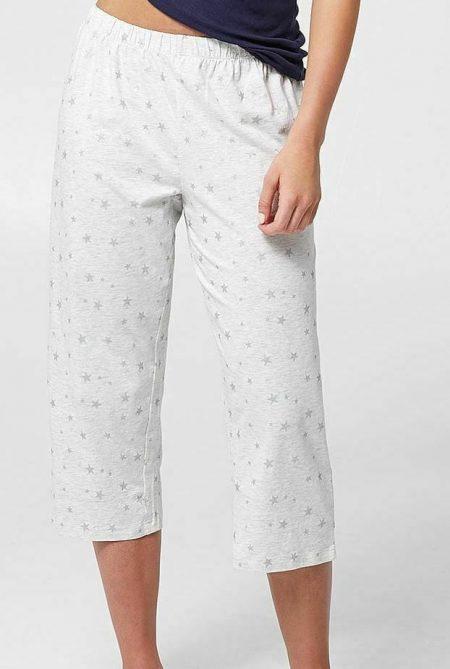 Sleep Pant TARGET Plus Size 8 10 12 14 16 18 20 22 Silver Stars 3/4 Pyjama PJ