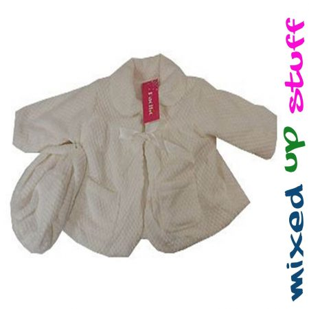 Sz-00-0-1-2-3-BaBy-GIRLS-White-Party-Jacket-Special-Occasion-Coat-Wedding-Hat-321074431653