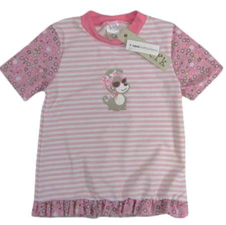Sz-00-4-BaBy-Girl-Pink-White-Rash-Vest-Bathers-Swimwear-Ruffle-Rashie-Flower-321219258736