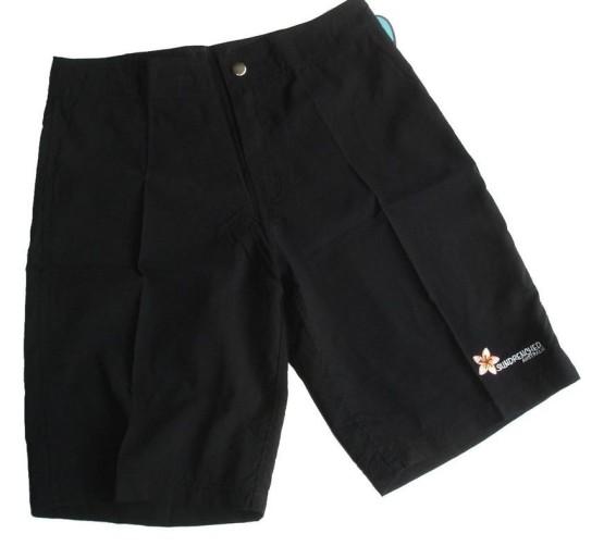 black board shorts