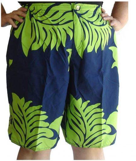 Sz-18-20-22-24-26-28-Women-Navy-Lime-Floral-Board-Shorts-Boardies-Tropical-Plus-221182452875