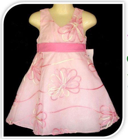 Sz 2 3 4 5 6 7 8 10 Girl Special Occasion Pastel Pink Party Dress Embroidered