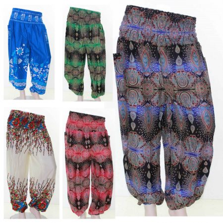 Sz-8-14-Women-Purple-Blue-Harem-Pants-Boho-Beach-Tribal-Gypsy-Long-Casual-221562273968