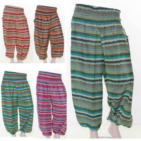 Sz-8-14-Women-Purple-Blue-Harem-Pants-Boho-Beach-Tribal-Gypsy-Long-Casual-321537213627