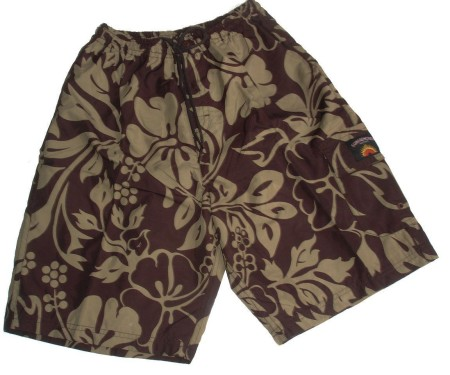 Sz S M Mens Brown Floral Board Shorts Boardies Swimwear Bathers