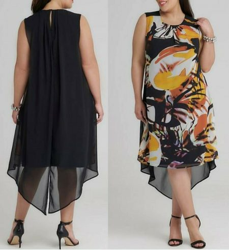 TAKING SHAPE TS Dress Plus Size 14 16 18 RRP$179.95 Black Orange Hi Low Sheer