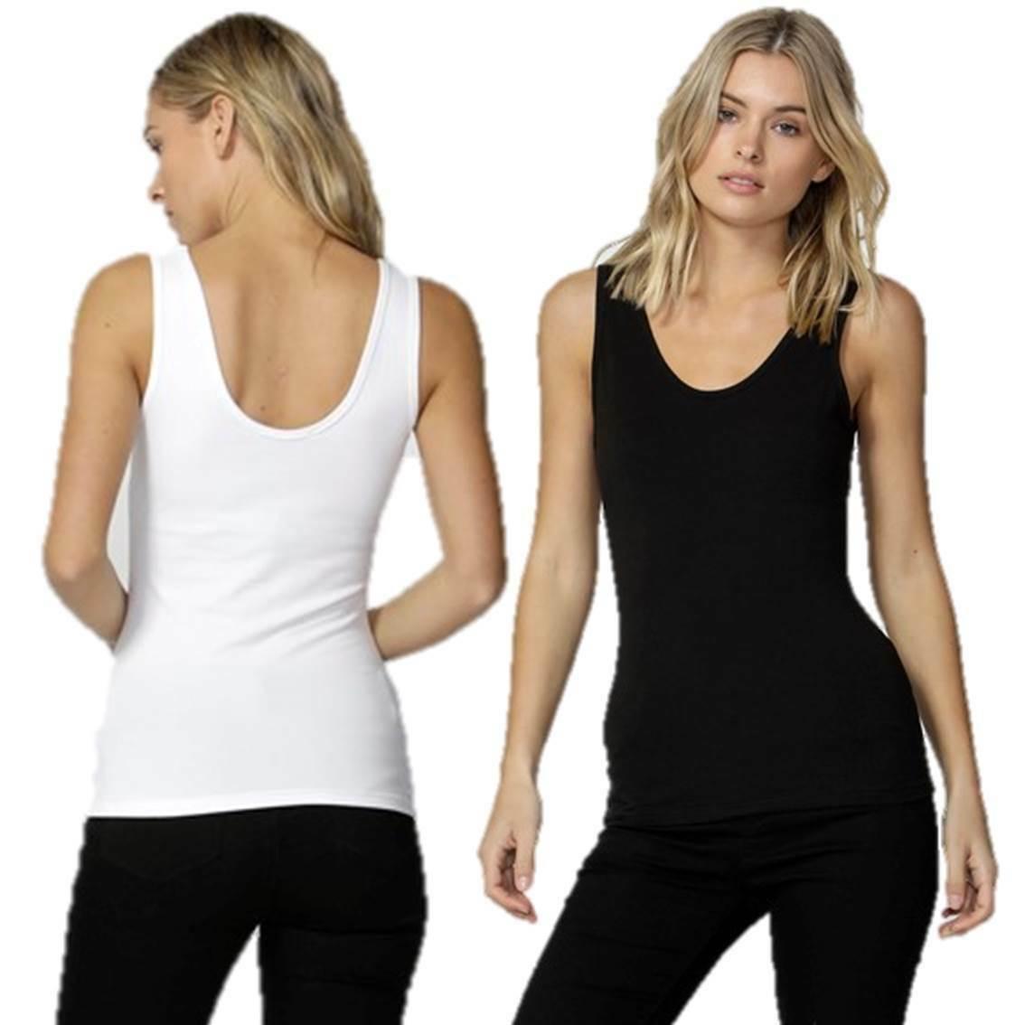 NEW Black /& White Crinkle Fabric Sleeveless Top SIZES 12 14 16