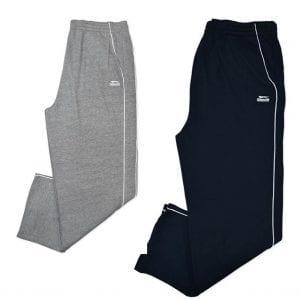 Track Pants SLAZENGER Trackies Fleece Size 3XL 4XL 5XL 6XL Mr Big Plus Navy Grey