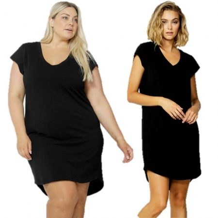 Tunic Dress Ava by Betty Basics Sizes 10 12 14 16 18 Black Maternity Loose Mini