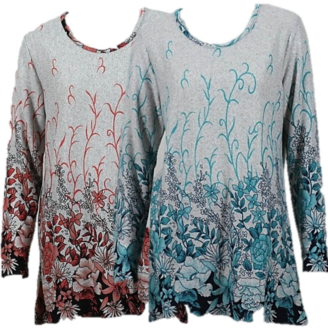 NEW Next Blue Floral Print Long Sleeve Top Blouse 10 12 14 16 18
