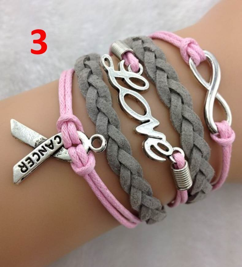 Breast Cancer Awareness Infinity Bracelets 6 99