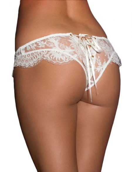 White Wedding Underwear Plus Size M XL 2XL 3XL Bride to be Bridal Eyelash Lace