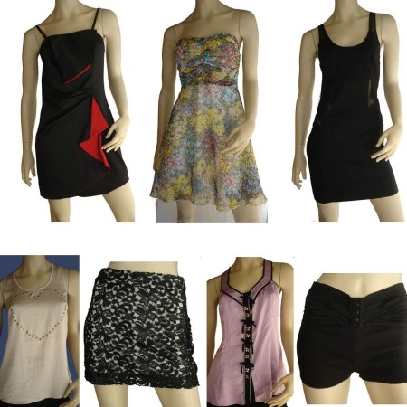 Wholesale Bulk Lot 12 x Dress Tops Skirts Shorts Designer Elly M Sizes 8 10 12