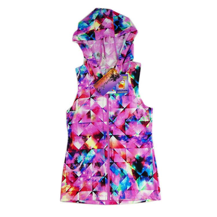 Womens Hooded Rash Vest Size  8 10 12 14 16 Rashie Hoodie Swimwear