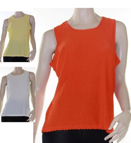 Yellow Cami Tank Blouse Textured Sz 12 14 16 18 Women ELEGANT Orange Lemon White